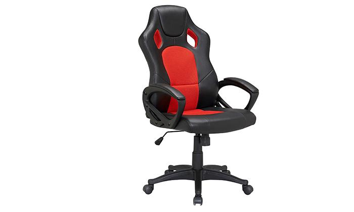 5 כיסא גיימינג עם ריפוד דמוי עור