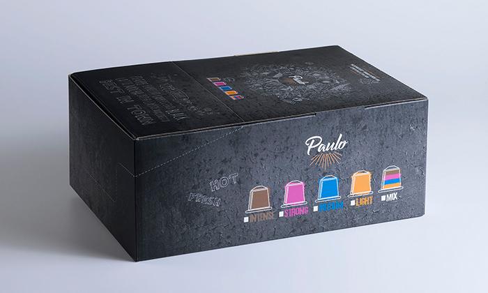 4 מארז 100 קפסולות PAULO תואמות נספרסו