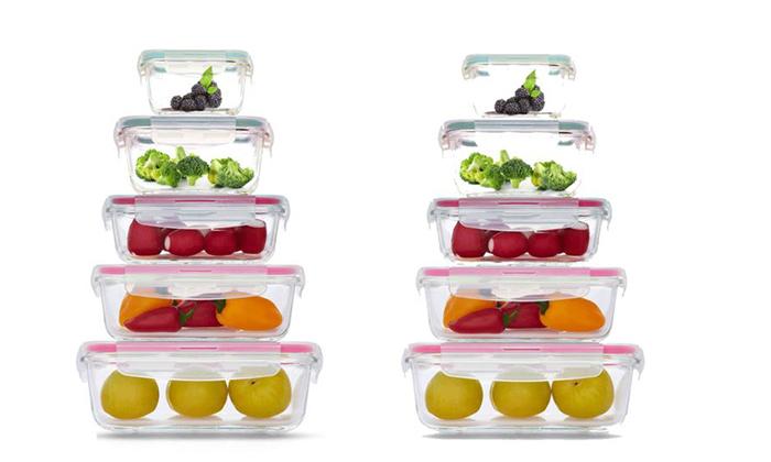 3 מארז 10 קופסאות אחסון GlassCloc של Food Appeal, כולל משלוח חינם