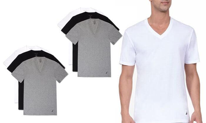 2 סט 6 חולצות גברים נאוטיקה NAUTICA, משלוח חינם