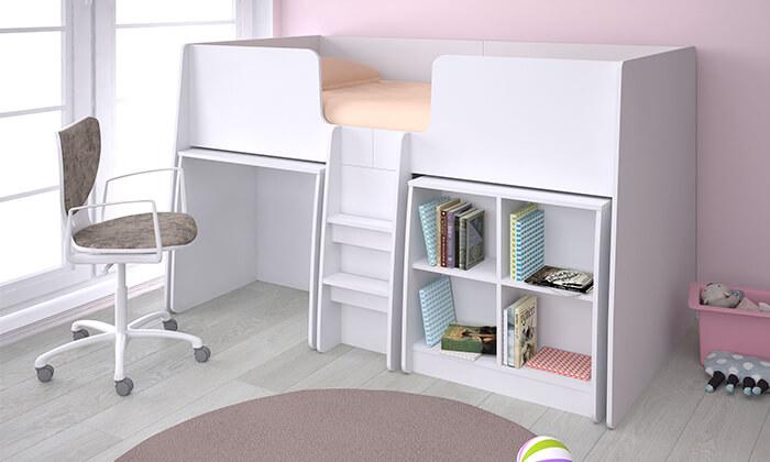 8 רהיטי סוכריה: מיטת קומפלט לחדר ילדים ונוער