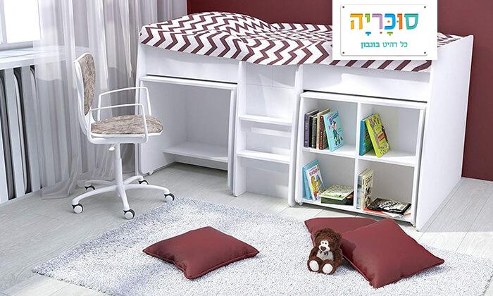 2 רהיטי סוכריה: מיטת קומפלט לחדר ילדים ונוער
