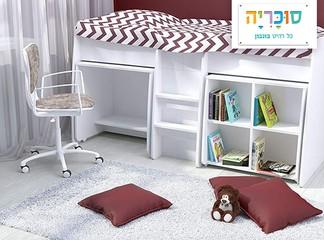 מיטה+שולחן+כוורת לילדים ונוער
