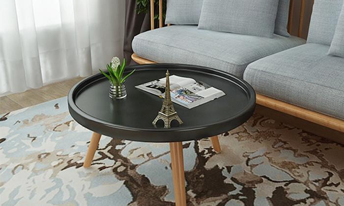 5 שולחן סלון עגול נמוך