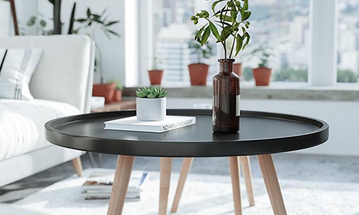 2 שולחן סלון עגול נמוך