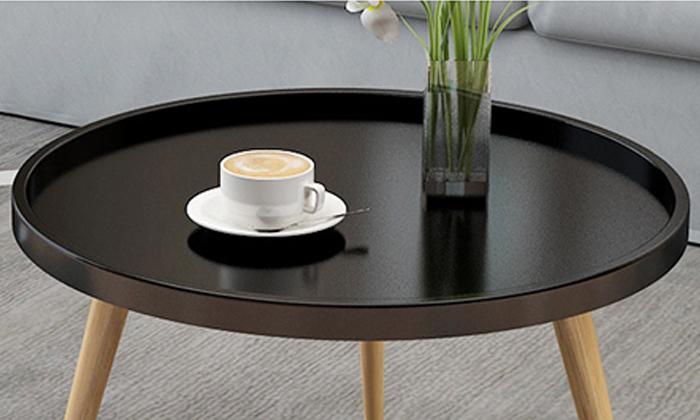 4 שולחן סלון עגול נמוך