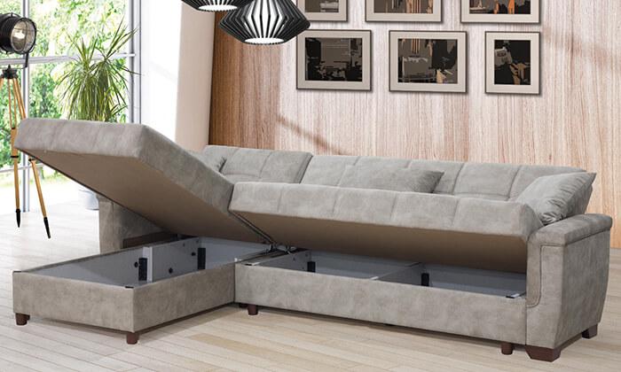 4 מערכת ישיבה פינתית נפתחת למיטה LEONARDO
