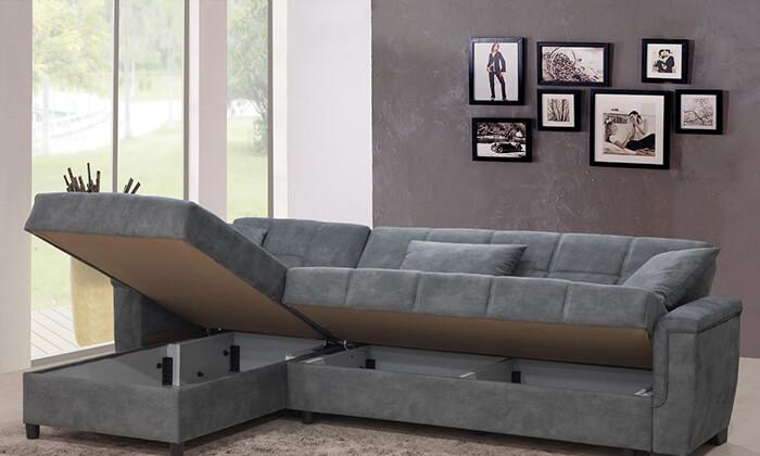6 מערכת ישיבה פינתית נפתחת למיטה LEONARDO