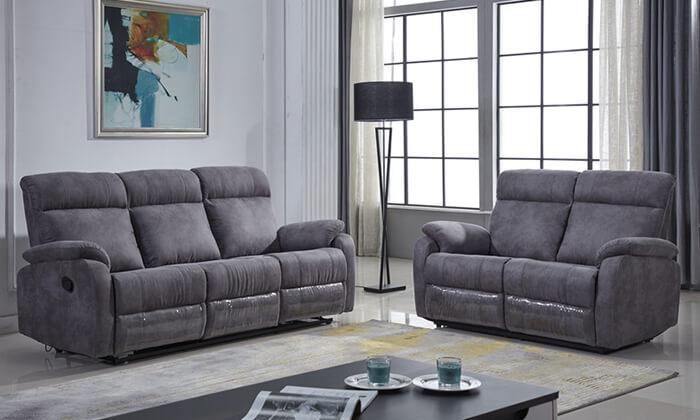 2 ספה דו ותלת מושבית עם ריקליינרים LEONARDO