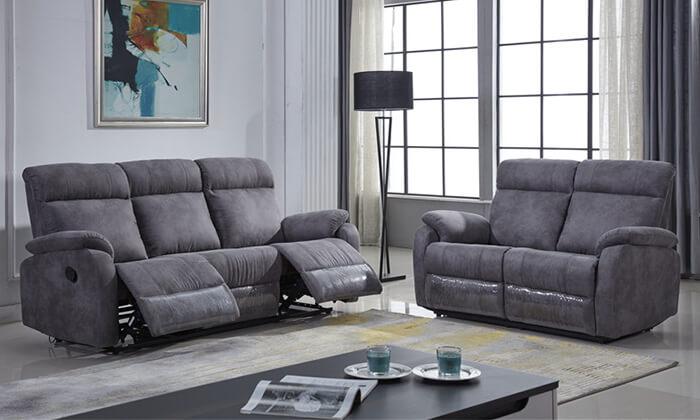 4 ספה דו ותלת מושבית עם ריקליינרים LEONARDO