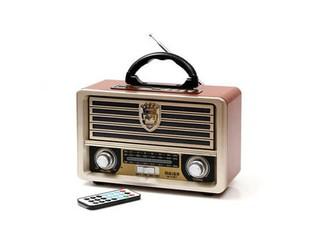 רמקול נייד בעיצוב רדיו רטרו