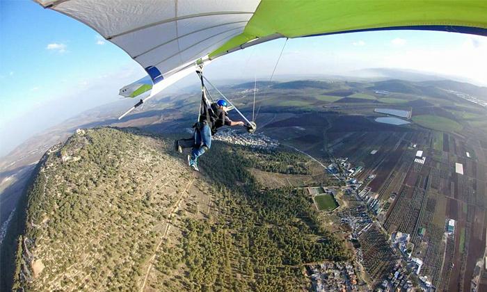 4 טיסה בגלשן אוויר, רמת הגולן