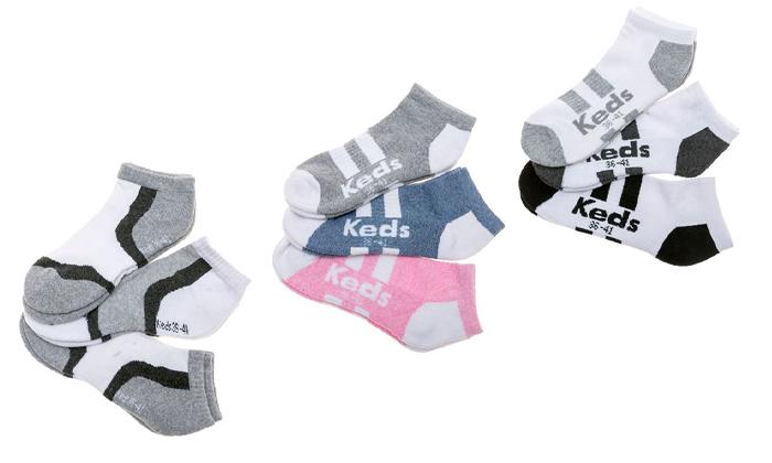 2 מארז 18 זוגות גרביים לגברים ונשים KEDS, משלוח חינם