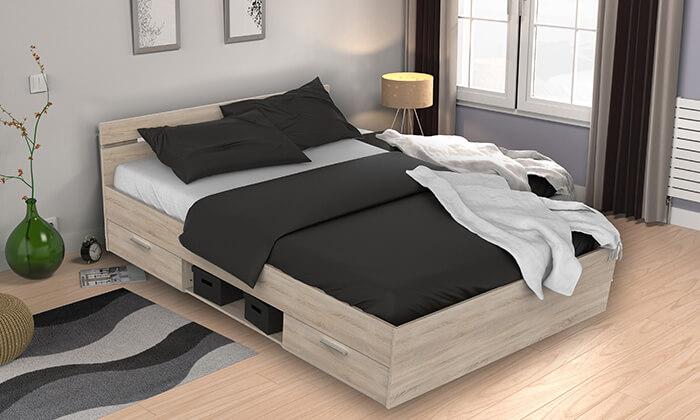 4 מיטה זוגית בעלת מגירות HOME DECOR