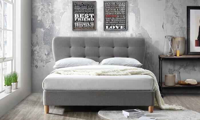 3 מיטה מרופדת ברוחב וחצי HOME DECOR