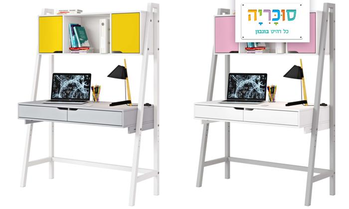 2 רהיטי סוכריה: שולחן כתיבה לחדר ילדים ונוער