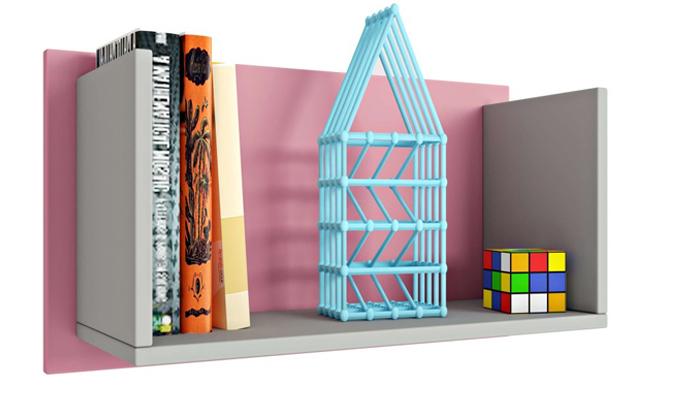 9 רהיטי סוכריה: מדף לקיר לחדר ילדים ונוער