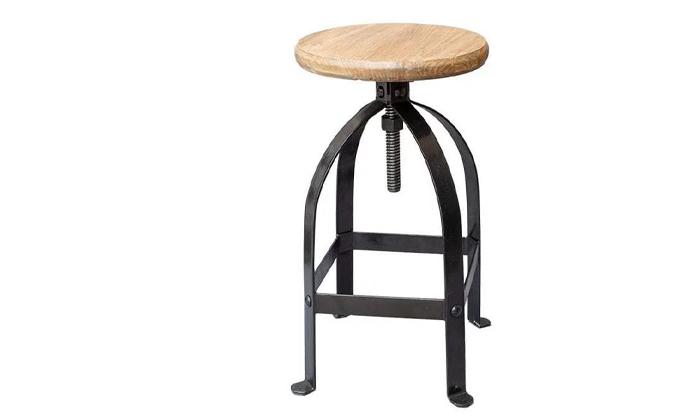 3 כיסא בר ברזל טבעי