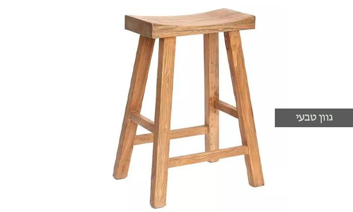 3 כיסא בר דמוי שרפרף מעץ טבעי