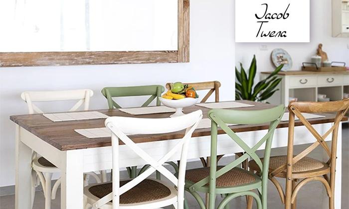 2 כיסא מעץ מלא לפינת האוכל