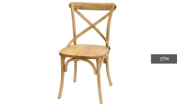 4 כיסא מעץ מלא לפינת האוכל
