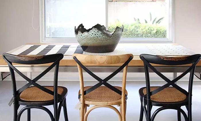 10 כיסא מעץ מלא לפינת האוכל