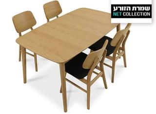 פינת אוכל נפתחת עם 4/6 כיסאות