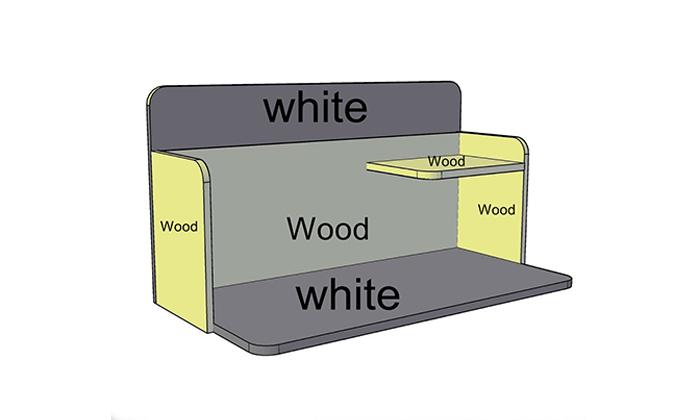 9 רהיטי סוכריה: שולחן כתיבה תלוי על הקיר