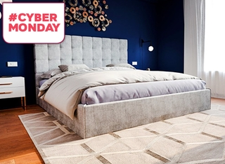 מיטה זוגית מרופדת דגם SKY