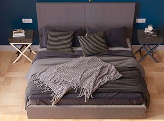 מיטה זוגית מרופדת דגם LIGHT