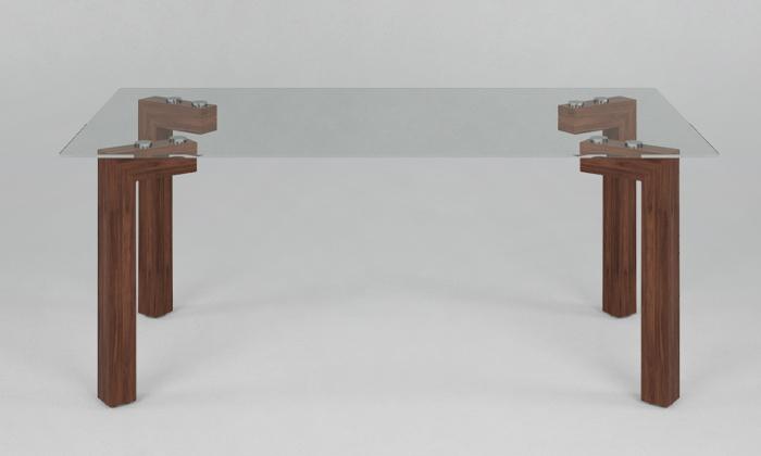 3 שולחן קפה עם פלטת זכוכית מחוסמת