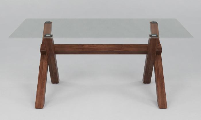3 שולחן סלון עם פלטת זכוכית