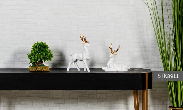 3 פסלוני חיות בעיצוב גיאומטרי