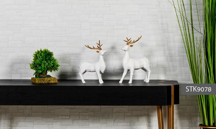 4 פסלוני חיות בעיצוב גיאומטרי