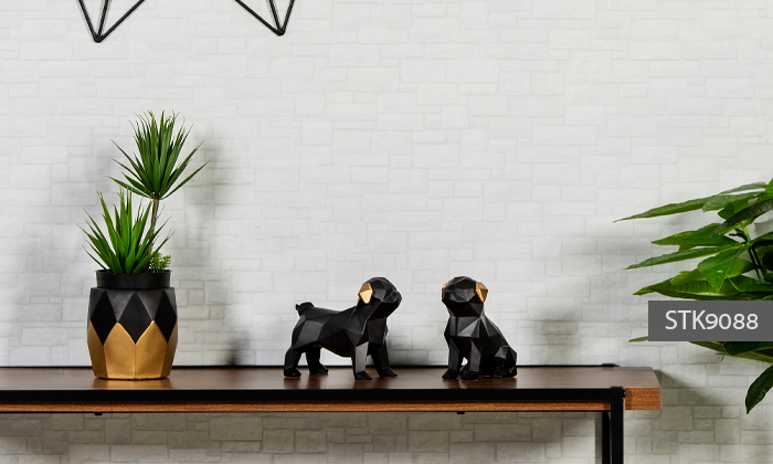 12 פסלוני חיות בעיצוב גיאומטרי