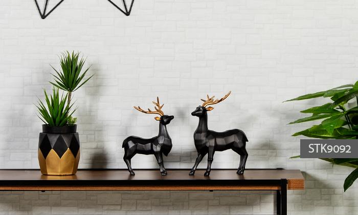 14 פסלוני חיות בעיצוב גיאומטרי