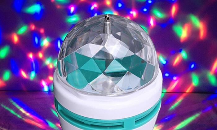 2 זוג מנורת צבעונית מסתובבת