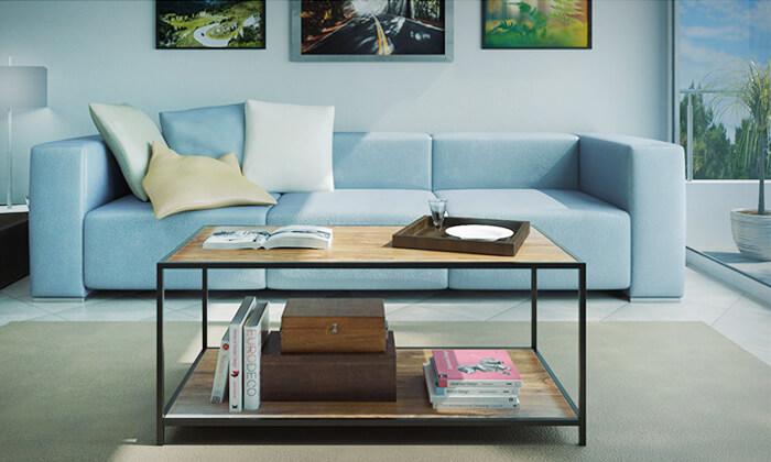 2 שולחן סלון בעל מדף תחתון
