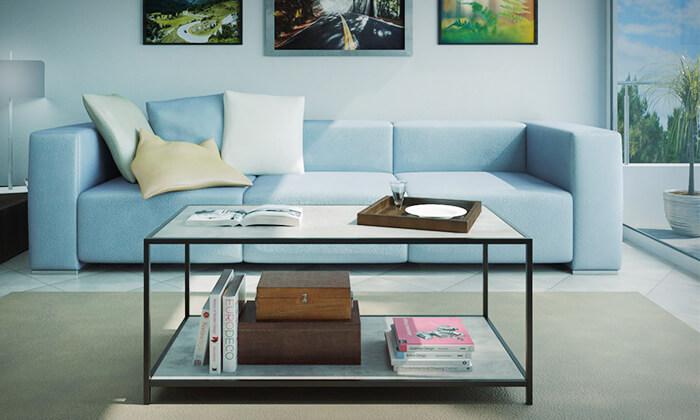 6 שולחן סלון בעל מדף תחתון