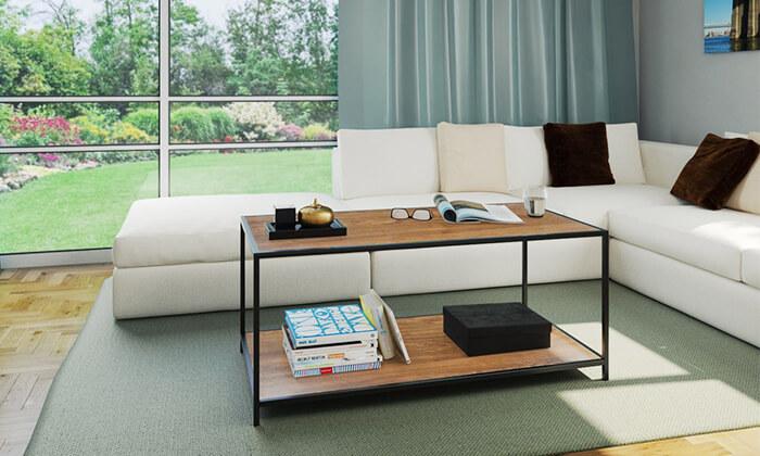 7 שולחן סלון בעל מדף תחתון