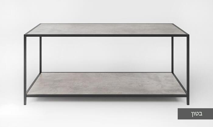 4 שולחן סלון בעל מדף תחתון
