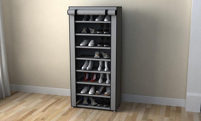 6 ארונית נעליים עשויה בד
