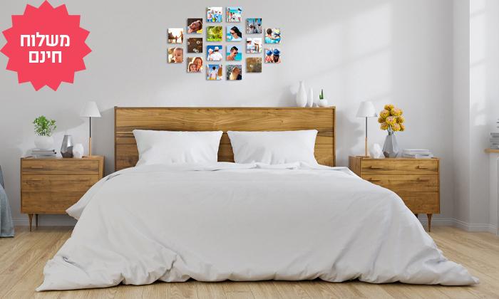 2 סט אריחי תמונות על קאפה בהתאמה אישית באתר PicOnAll, משלוח חינם
