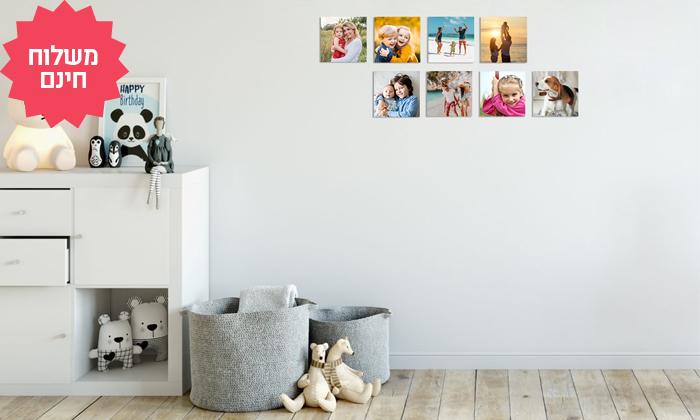 7 סט אריחי תמונות על קאפה בהתאמה אישית באתר PicOnAll, משלוח חינם