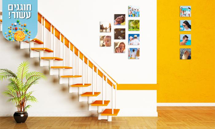 6 סט אריחי תמונות על קאפה בהתאמה אישית באתר PicOnAl