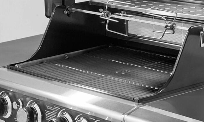 6 גריל גז בעל מבער אחורי Australia Chef כולל גריל מורכב