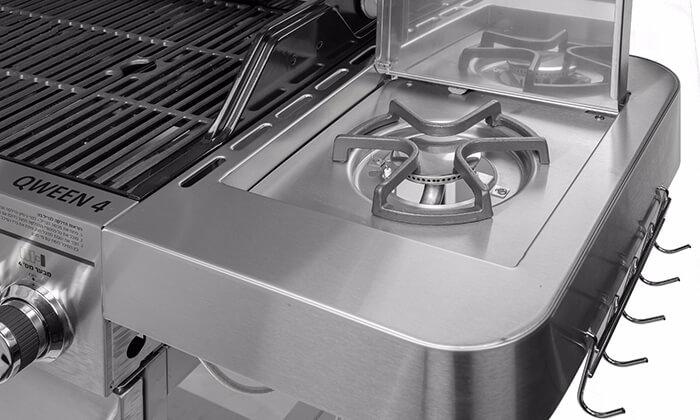 3 גריל גז מורכב 4 מבערים עם כירת צד Australia Chef דגם QWEEN