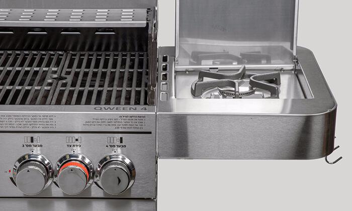 4 גריל גז מורכב 4 מבערים עם כירת צד Australia Chef דגם QWEEN