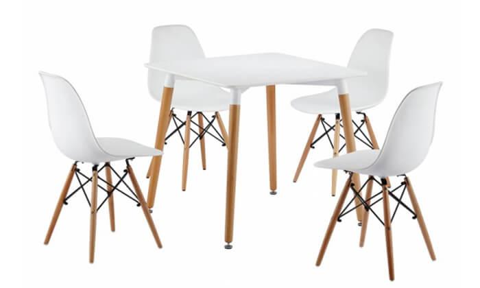 7 פינת אוכל עם 4 כיסאות