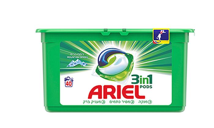 3 מארז חסכון 120 קפסולות ג'ל לכביסה אריאל ARIEL